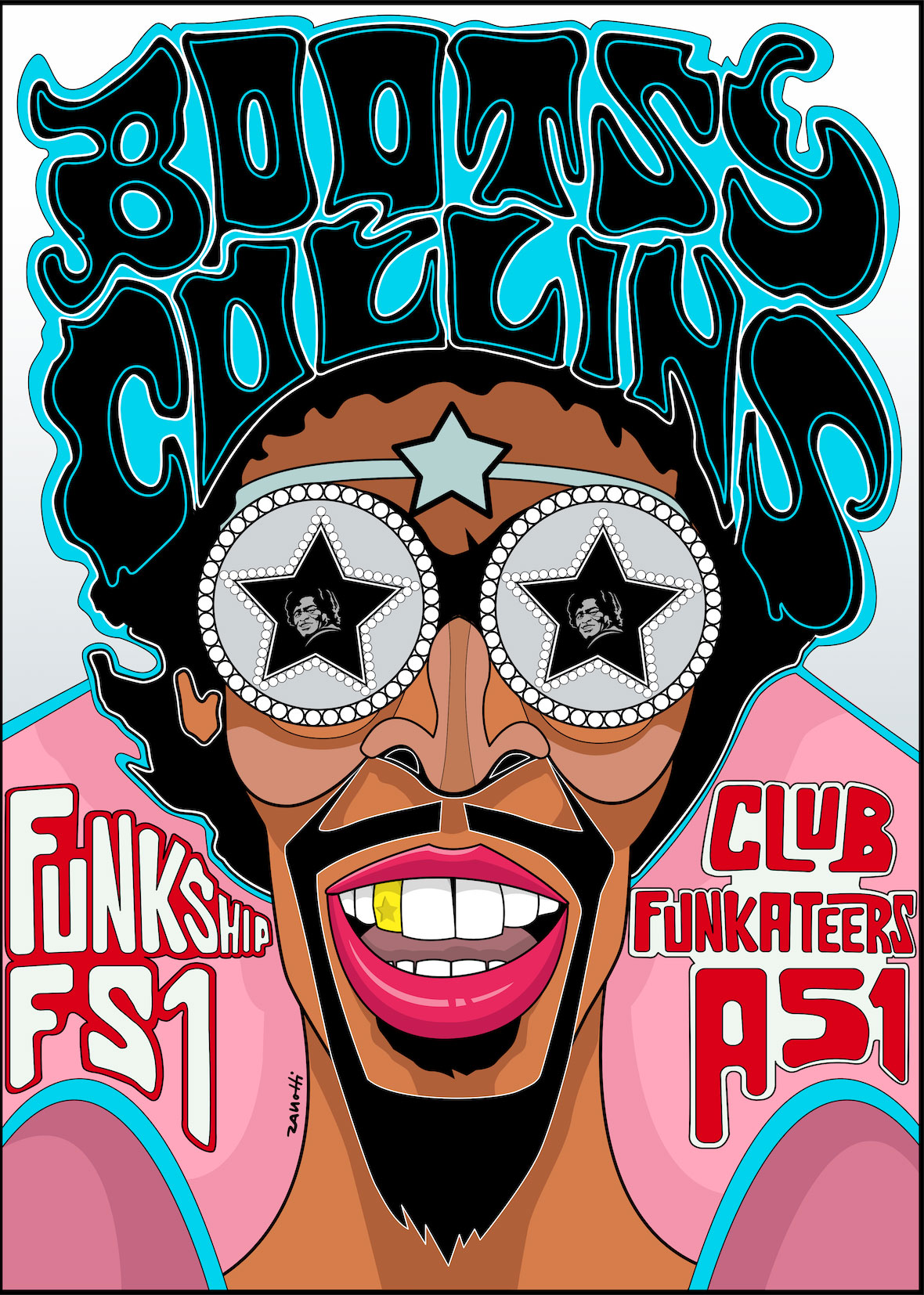 Bootsy Collins Art Poster