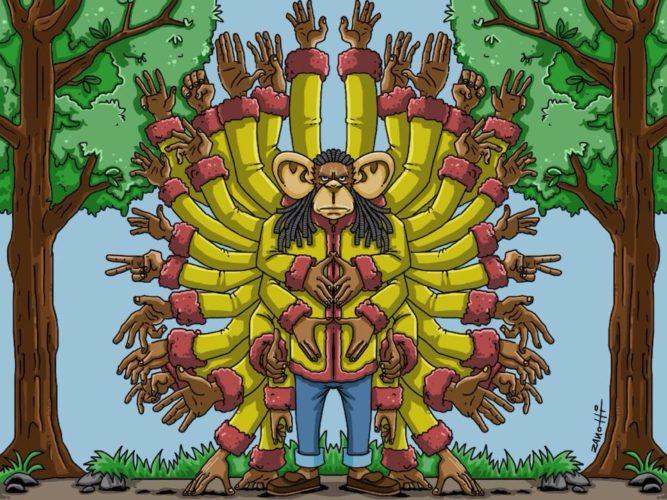 hands monkey