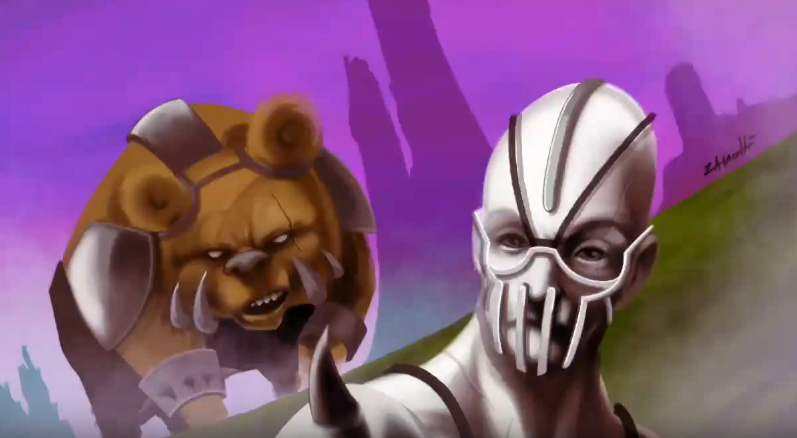 The Bears War – Speed Painting Procreate IPad