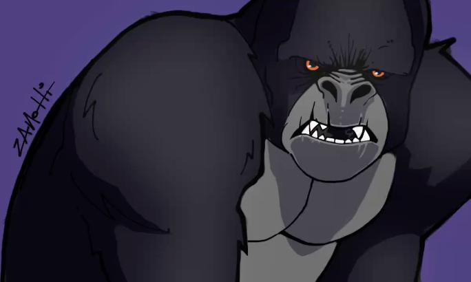 Gorilla – Speed Painting Procreate IPad