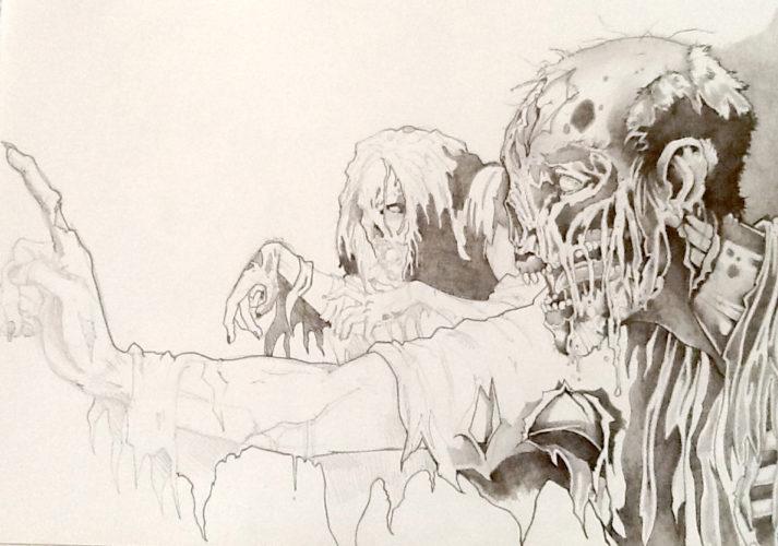pencil zombie